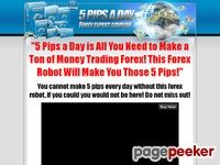 """Install the 5 pips a day forex robot In 5 Minutes and Enjoy Your Freedom Whilst You Collect Your Cash! No Trading Knowledge or Experience R..."