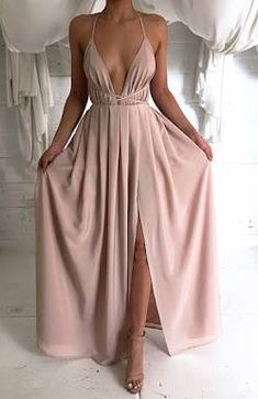 Sexy Prom Dress, V-Neck Chiffon Prom Dresses, Long Open Backs Evening Gowns de bal longues Straps Prom Dresses, Pink Prom Dresses, Backless Prom Dresses, Grad Dresses, Cheap Prom Dresses, Ball Dresses, Sexy Dresses, Formal Dresses, Dress Prom