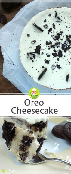 Rezept für einen Oreo Cheesecake, ein Kuchen aus Oreo Keksen. #oreo #käsekuchen #rezept
