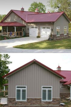 45 Durable & Beautiful Steel Homes That You Have To See - House Topics Metal Barn Homes, Metal Building Homes, Pole Barn Homes, Building A House, Pole Barn House Plans, Garage House Plans, House Floor Plans, Residential Steel Buildings, Metal Buildings