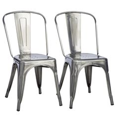 Tabouret Bistro Gunmetal Side Chairs (Set of 2) | Overstock.com Shopping - The Best Deals on Dining Chairs