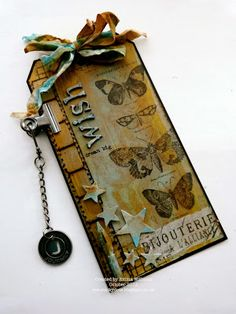 That's Life: Eroded Metal Tag from Creative Chemistry 102 by Tim Holtz