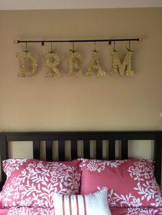 Glitter Letter Wall Art. $10.00, via Etsy.