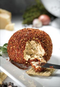Gourmet du Village Cheese ball. Great for parties! #appetizers #saybrookcountrybarn