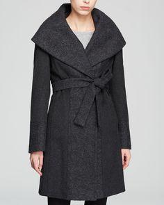 Calvin Klein Coat - Belted Wool Wrap | Bloomingdale's $186