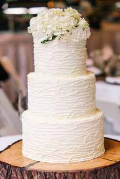Rustic Cake: http://www.stylemepretty.com/north-carolina-weddings/highlands/2015/05/04/rustic-rainy-summer-wedding-at-old-edwards-inn/ | Photography: VUE- http://www.vuephotographyonline.com/