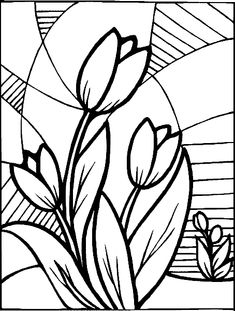 12 Best Tulip Flowers Coloring Pages