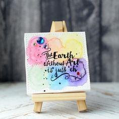 Lea Lawson Creates: Lil' Inker Designs Mini Canvas, Easel; mixed media inspiration