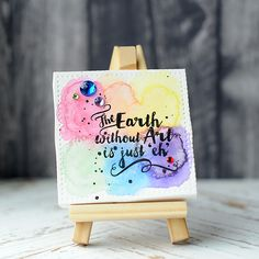 Lea Lawson Creates: Lil' Inker Designs Mini Canvas, Easel; mixed media inspiration