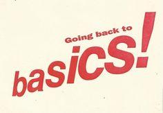 Back to Basics Flyer