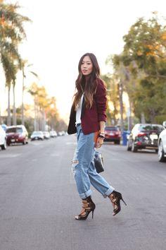 Blazer + Boyfriend Jeans | Song of Style