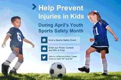 This site has some great tips and sheets to help with sports injuries and how to prevent them! A Must Read for ALL Parents whose kids are in youth sports or in any sports!