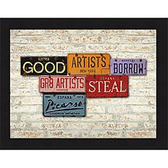 Greg Constantine 'Picasso, Steal' Framed Print   Overstock.com Shopping - The Best Deals on Prints