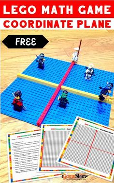 LEGO math game for kids learn coordinate plane and ordered pair with free game board and worksheet. Hands-on STEM activities encourage higher-level thinking skills. Science Videos For Kids, Learning Websites For Kids, Educational Apps For Kids, Math Games For Kids, Science Activities For Kids, Cool Science Experiments, Learning Activities, Kids Learning, Stem Activities
