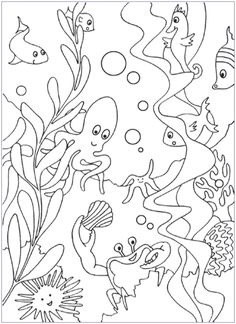 free under the sea coloring pages (same website has free under the sea word searches in both upper and lower case)