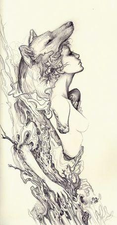 wolf girl tattoo - Google Search