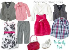 Coordinating sibling outfits for family portraits- Spring Easter