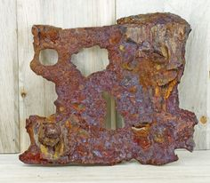 Railroad Spike Art ~ Found Object Art ~ Heavy Rusty Metal ~ Man Cave Wall ~ Industrial ~ Sculpture ~ Metal Assemblage ~Metal Salvage #2-20 by HighDesertRust on Etsy