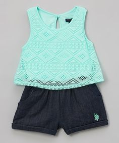 Another great find on #zulily! Mint Romper - Infant, Toddler & Girls #zulilyfinds