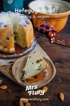 Elsässer Hefegugelhupf - Veganer Gugelhupf - Mrs Flury gesunde Rezepte Baked Potato, Potatoes, Baking, Ethnic Recipes, Vegetarian Recipes, Pies, Best Healthy Recipes, Potato, Bakken