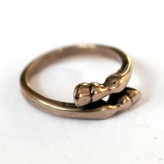 Horse Hoof Ring in Solid Bronze by Moon Raven Designs on Etsy - very affordable, I might have to treat myself!