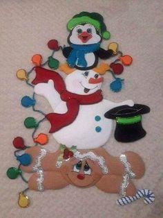 Christmas Stocking Kits, Felt Christmas Stockings, Painted Christmas Ornaments, Christmas Deer, Felt Ornaments, Christmas Signs, Popsicle Stick Christmas Crafts, Christmas Wall Hangings, 242