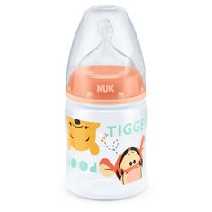NUK First Choice Winnie The Pooh Bottle with Silicone Teat design - Baby Bottles - Best baby care Baby Boy Toys, Baby Dolls, Best Baby Bottles, Winnie The Pooh Nursery, Baby Bottle Sterilizer, Baby Supplies, Baby Disney, Trendy Baby, Baby Feeding