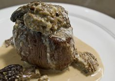 filet mignon with morel sauce........I think I drooled a bit imagining how wonderful that probably tastes.