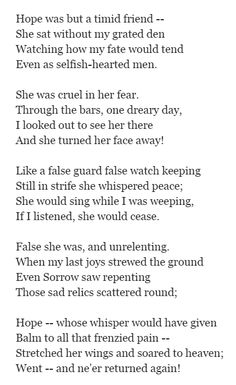 Hope by Emily Brontë
