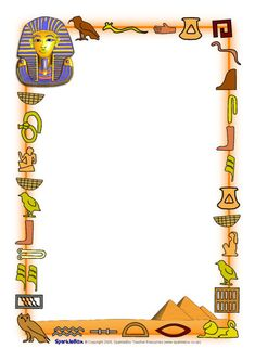 Egyptians Page Borders Archaeology Ancient Egypt party Ancient Egypt For Kids, Ancient Egyptian Art, Ancient History, Ancient Egypt Crafts, European History, Ancient Aliens, Ancient Greece, American History, Egyptian Crafts