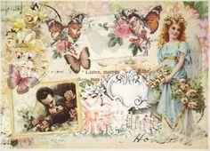 Rice Paper for Decoupage Decopatch Scrapbook Craft Sheet Romanic Love