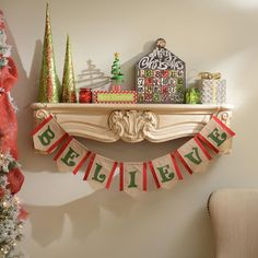 Display our Believe Burlap Banner on your mantel or bookshelf this season to remind everyone of the true meaning of Christmas. Its rustic fabric and festive colors will help everyone hold onto that child-like faith in Old Saint Nick.
