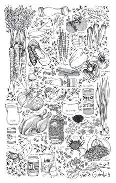 black and white food art illustration Gravure Illustration, Illustration Art, Drawing Reference, Line Drawing, Food Sketch, Desenho Tattoo, Food Drawing, Black And White Illustration, Food Illustrations