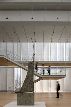 Art Institute of Chicago - The Modern Wing. Those flying stairs #stairs