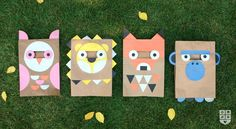 Tutorial for DIY Halloween animal masks out of paper bags | Wee Society