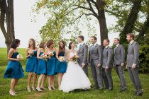 Love the blue in gray (these may actually be my wedding =])