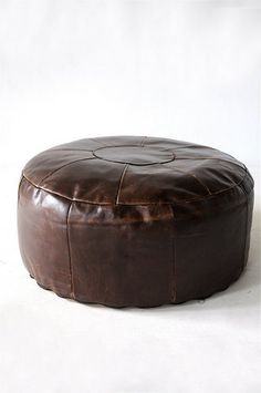 VINTAGE LEATHER PATCHWORK STOOL THE NETHERLANDS 1960-80's アンティーク ヴィンテージ クッション スツール Leather Stool, Leather Furniture, Sewing Class, Vintage Leather, Restoration, Ottoman, Caves, Chair, Netherlands