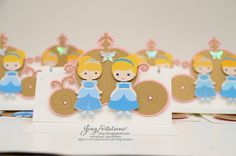 Cinderella twins invitations