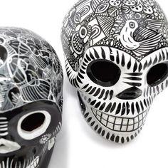 Calaveras mexicanas cerámica. Dia de muertos - Fantastik