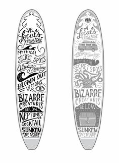 Bacardi Surfboard by Justin Poulter, via Behance