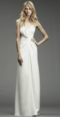 Love the draping structure of this wedding dress! (Nicole Miller)