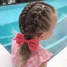 """""""I took two of my other styles and merged them together to get this style. Pull through side braid framed with a Dutch Lace braid."""" Photo taken by @prettylittlebraids on Instagram, pinned via the InstaPin iOS App! http://www.instapinapp.com (07/05/2015)"""