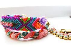 Savi Braided Friendship Bracelet in neon pink and orange    http://www.etsy.com/listing/98274627/no-tan-lines-in-rio-de-janeiro-braided