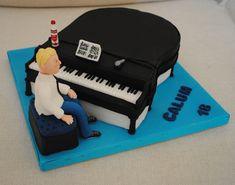 Gâteau pour anniversaire pianiste