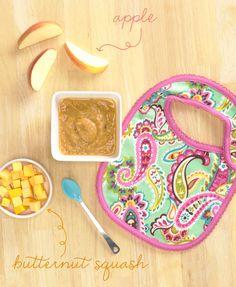 Pretty. Delicious. [Baby Food]: Crock-Pot Butternut Squash Applesauce, featuring the Bib Set in Tutti Frutti | Vera Bradley