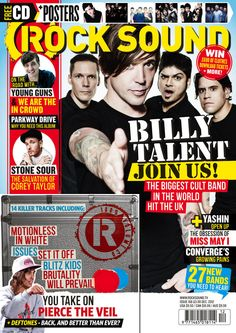 Buy the latest issue of Rock Sound magazine or find a back issue Billy Talent, Rock Sound, Young Guns, Music Is Life, Rock Music, Punk Rock, Album, Magazines, Hot Guys