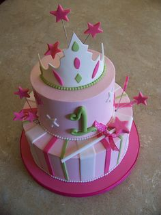 Original cake design by Pink Cake Box :) Girly Cakes, Fancy Cakes, Pretty Cakes, Beautiful Cakes, Amazing Cakes, Birthday Cake Girls, Birthday Cakes, Birthday Ideas, Birthday Parties