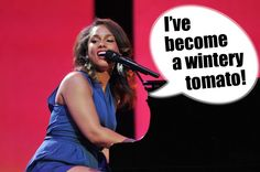 """In New Yoooooork / I've become a wintery tomato"" Alicia Keys & Jay-Z misheard lyrics for ""Empire State of Mind"""