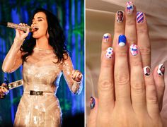 Katy Perry's patriotic nails dope as hell!