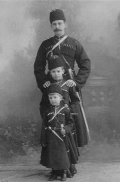 Prince Felix Yusupov Sr with his sons, Nicholas and Felix.
